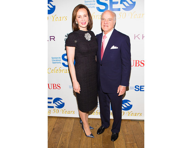 Henry Kravis, co-founder of Kohlberg Kravis Roberts & Co., was an honoree and is seen here with wife, Marie Josee Kravis, economist and philanthropist.