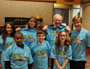 warren buffett with kids