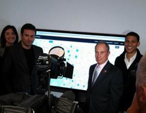 Mayor Michael Bloomberg Kicks Off The Launch Of Urban Compass
