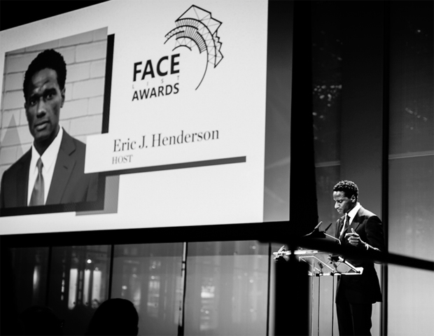 On June 15, Face2Face Africa,  a premier media and events company, hosted a night of excellence, honoring leaders of the African diaspora at The Times Center in the heart  of New York City. The F.A.C.E. List Awards, sponsored by State Farm and Arik Airlines and hosted by Eric J. Henderson of the Huffington Post (pictured, left), was a star-studded event that included performances and a special giveaways.