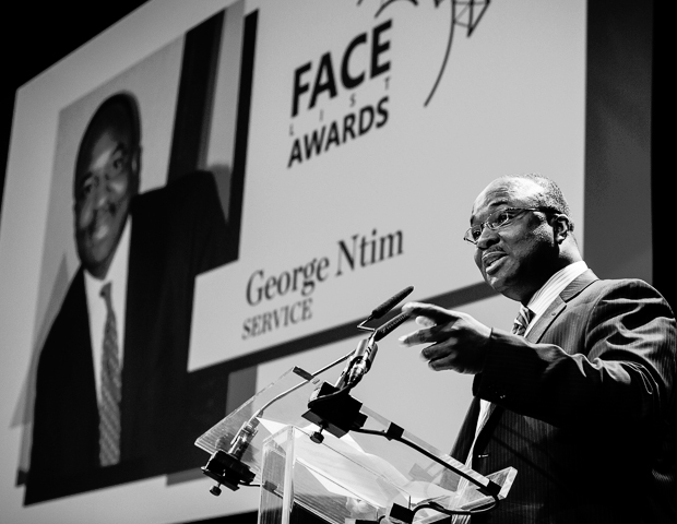 George Ntim, founder and president of the African Development Foundation, was honored for his work with fiscal development and advocacy in Africa.