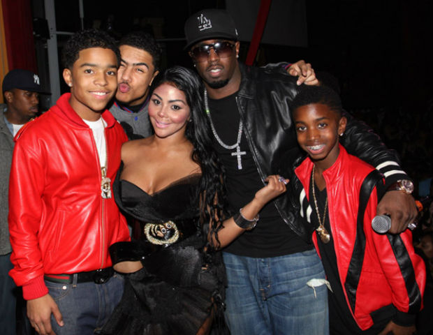 puffy, lil kim and his sons