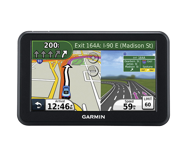 A reliable GPS for those long business trips ...   According to a review of About.com's business travel channel, Garmin GPS was cited as the number one GPS system to use. In addition to being thin, the unit has a highly-sensitive touch screen,  with multi-touch capabilities (like an iPhone) for pinching or zooming. You can find this system at BestBuy starting at $86.