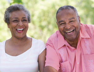old happy black couple