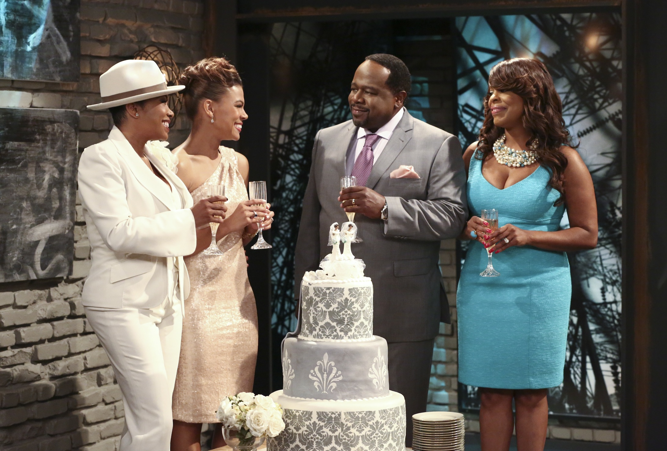 The Soul Man's Parker and Tucks with Cedric and Nash celebrate their characters' marriage