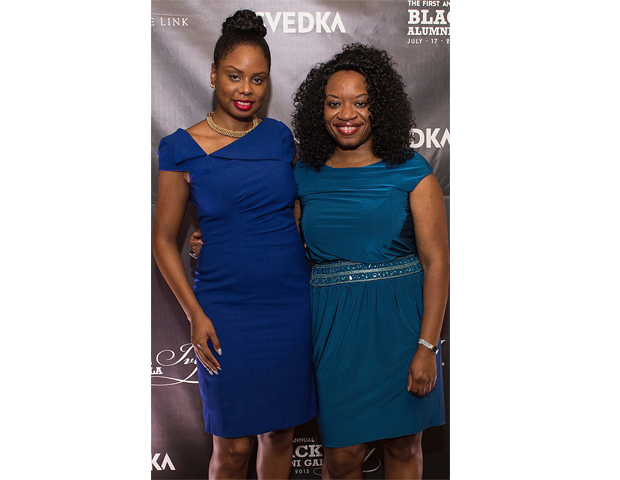 BlackEnterprise.com producer Janell Hazelwood is pictured with Anie Akpe-Lewis, founder of business consultancy Ibom L.L.C.