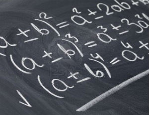 algebra math on blackboard