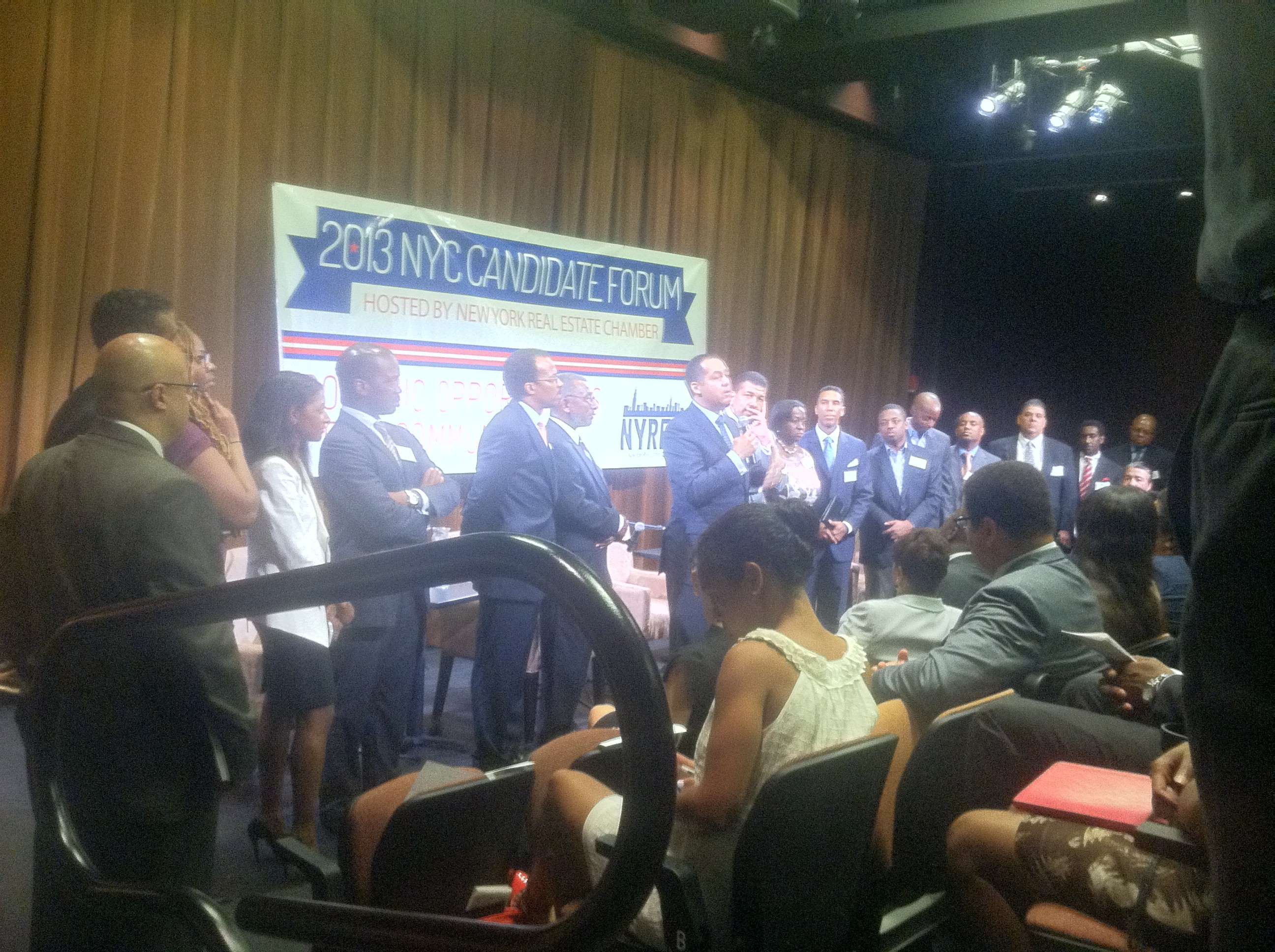 Don Peebles spoke before a gathering at a economic forum for New York City's mayoral candidates Tuesday.