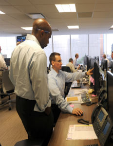 Employees at Drexel Hamilton. Photo by Jennifer S. Altman.