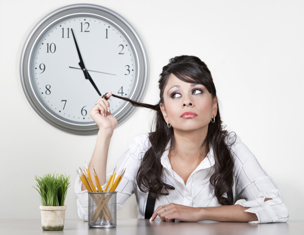 55 PERCENT: Someone who often leaves work early