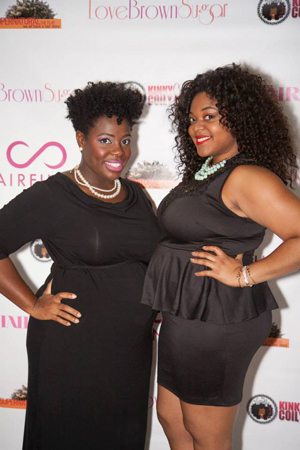 'Let Your Hair Down Expo' hosts Jenell Stewart of KinkyCurlyCoilyMe! and LoveBrownSugar's Christina Brown talk natural hair movement and tips to blogging like a pro (Image: Anika Thomas Photography)