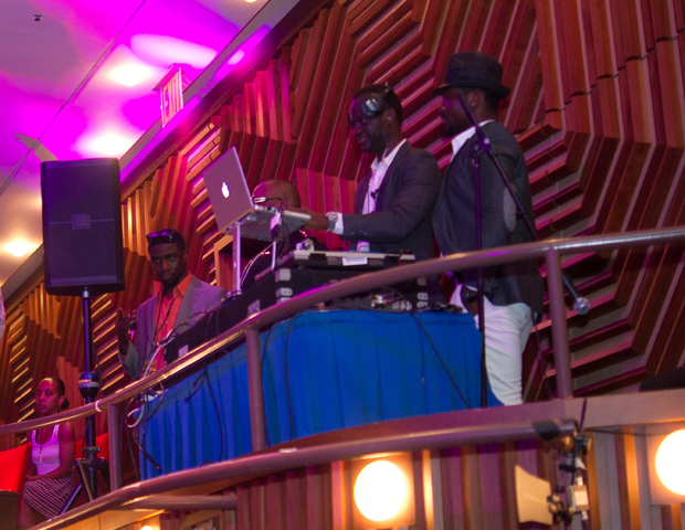 "Top international entertainer DJ Zimo (center) is also one of the co-founders of the NEAs. ""This is a night to showcase to the world the amazing talent Nigeria and Africa have to offer,"" he said. ""My co-founders and I believe it is important for us to create our own way to honor the efforts of entertainers here and abroad."""