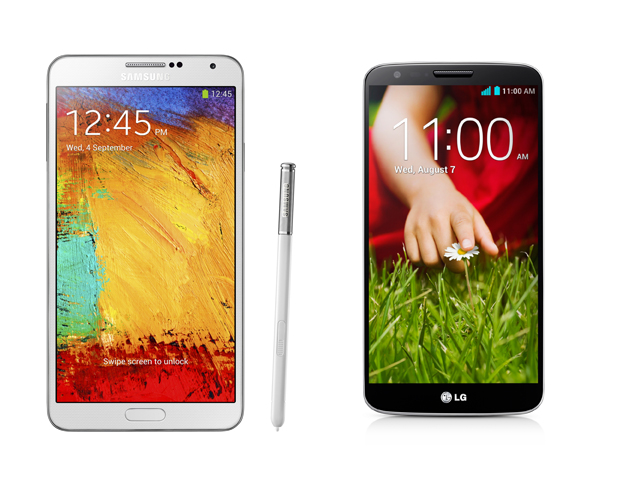 Samsung Galaxy Note 3 vs. LG G2: See which big smartphone is the best pick for you (Image: Sources)