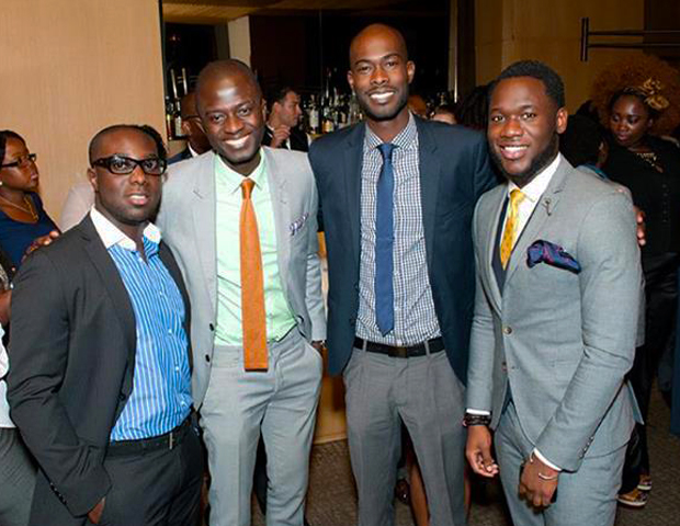 Networking event attendees with Arik Airlines' Kobi Brew-Hammond