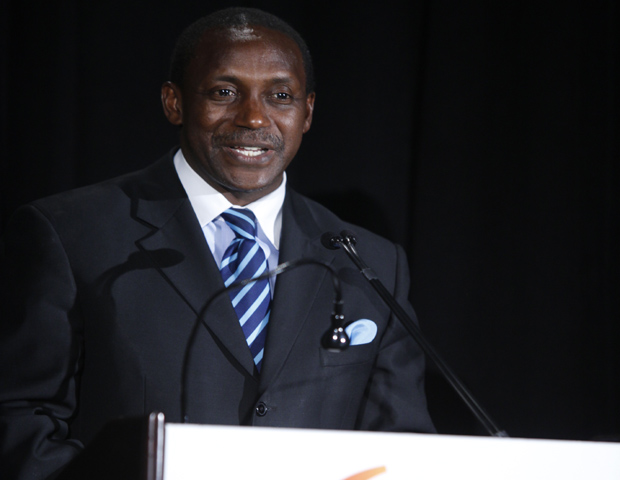 Kandeh K. Yumkella, Ph.D., special representative of the UN Secretary General Ban Ki-moon and CEO of Sustainable Energy for All Initiative, accepted the AAI Distinguished Alumnus Award