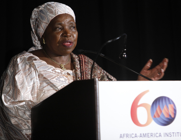 Nkosazana Dlamini Zuma, Ph.D., chair of the African Union Commission, represented the African Union (AU) in accepting the AAI Institutional Legacy Award.