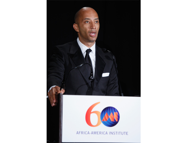 ABC News' Byron Pitts was the MC for the dinner and awards ceremony for the night.