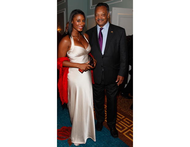 The Rev. Jesse Jackson, seen here with a guest, was also among guests who celebrated with AAI.