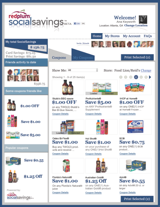 RedPlum Social Savings App Combines Social Media with Couponing