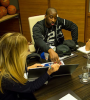 Knicks guard Raymond Felton recently visited Under Armour headquarters before a recent preseason game in Baltimore.