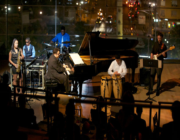 Jazz piano sensation and Harlem School of the Arts artist-in-residence Arturo O'Farrill performed before an audience of supporters, board members and celebrities with the New York City skyline as his backdrop.