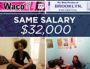 How Two Women Live on $32k in Waco, Texas and Brooklyn, NY