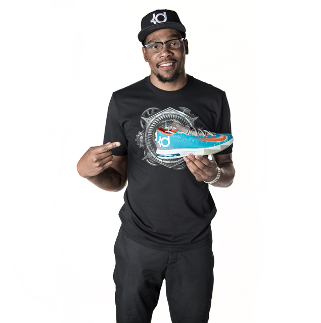 Kevin Durant Shows Off The Upcoming Nike KD 9 GS Fire & Ice