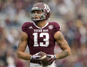 Mike Evans was Texas A&M's leading receiver during his two years at the school.