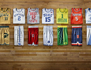 Nike Releases Photo of New 'Old' College Basketball Uniforms