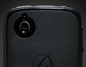 The Android smartphone isn't boasting any high-end specs, but does have a removable panel for modular add-ons.