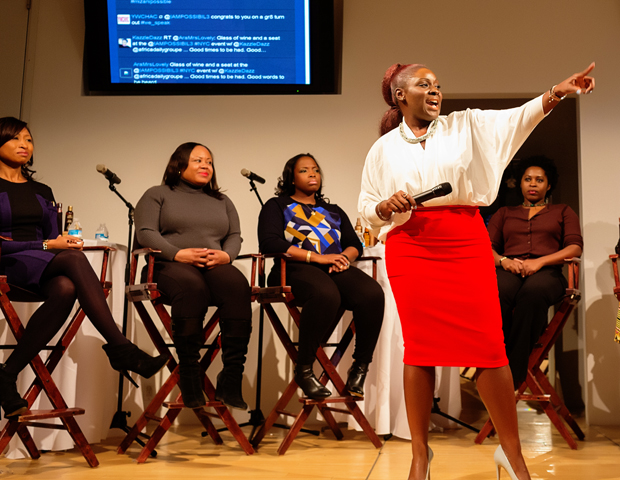 """What I wanted to do was connect women of color globally to define  the world on their terms,"" said Simone Bresi-Ando, far right, founder of I'mPOSSIBLE, whose career and motivation conversations started in the U.K. via Google Hangouts and events. With her social enterprise, Bresi-Ando seeks to educate, connect and empower young women of color by celebrating, highlighting and promoting the achievements of women from all ethnic backgrounds, showcasing their life stories and successes.