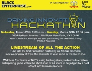 Watch BlackEnterprise's Driving Innovation Hackathon on LiveStream Today