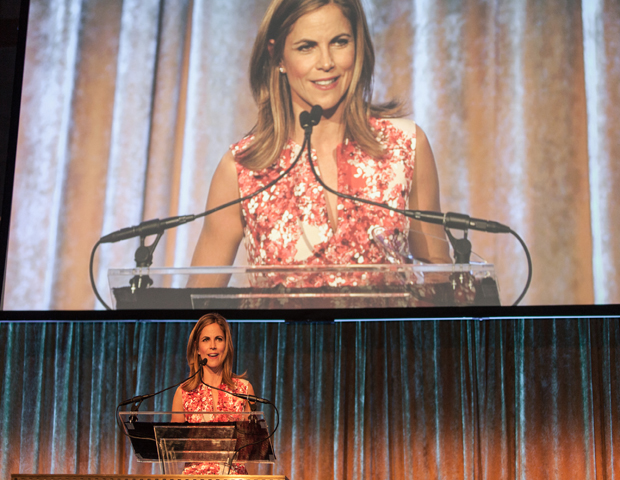 Journalist Savannah Guthrie presented the Breakthrough Leadership Award to NBC Anchor Natalie Morales (pictured).