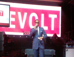 "Sean ""Diddy"" Combs addresses audience of media and entertainment industry professionals at Revolt TV upfront event in New York City. (Image: File)"
