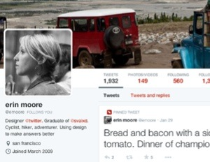 Twitter's new profile views offer larger profile photos, wider cover photos, and tweets you can pin to your page.