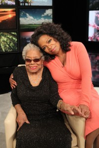 Oprah Winfrey with Dr. Maya Angelou; Photo Credit: Harpo Studios, Inc. / George Burns