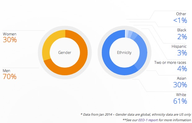 Google Diversity Chart
