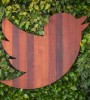 Twitter bird in wood