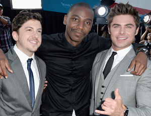 Jerrod Carmichael (center), seen with castmates from Neighbors (Image: File)