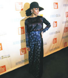 Anika Noni Rose attends Half of a Yellow Sun screening at New York's Lincoln center