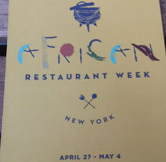 African Restaurant Week Menu