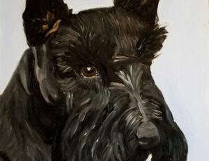 George Bush Barney Painting
