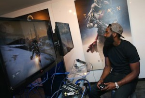 Pro Basketball Players Bradley Beal And James Harden Attend Activision Booth At E3