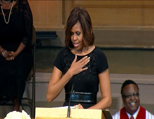 Michelle Obama delivers tribute speech at Dr. Maya Angelou's memorial service