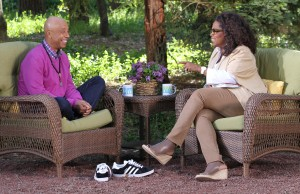 Oprah Winfrey with Russell Simmons