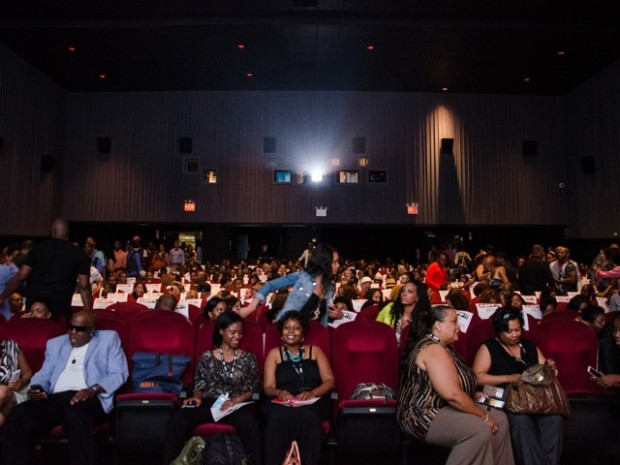 "ABFF attendees fill New York's SVA Theater, the official screening venue for ABFF, to see the ""Think Like A Man"" sequel, which was released nationwide on June 20."