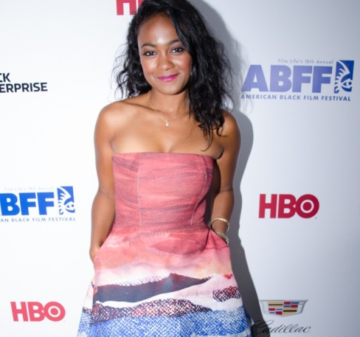 "Actress Tatyana Ali, whose film, ""Come Back Dad,"" was previewed at the festival, comes out for the ""Think Like A Man Too"" premiere."