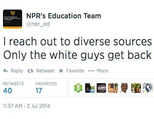 NPR education diversity tweet