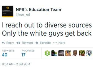 NPR education diversity tweet