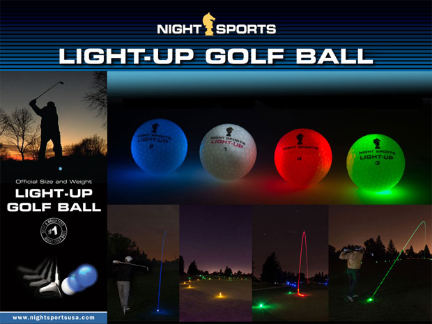 light up golf ball LED
